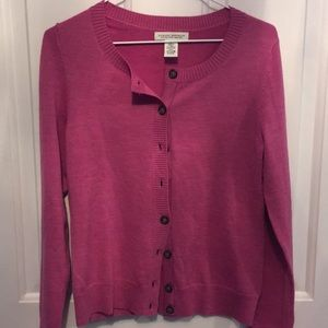 PERFECT pink cardigan by banana republic! Size S
